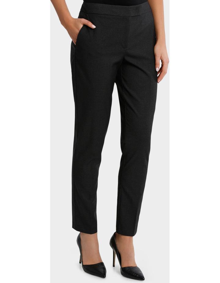 Charcoal Cross Hatch Straight Leg Suit Pant image 1