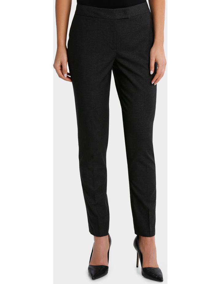 Charcoal Cross Hatch Straight Leg Suit Pant image 2