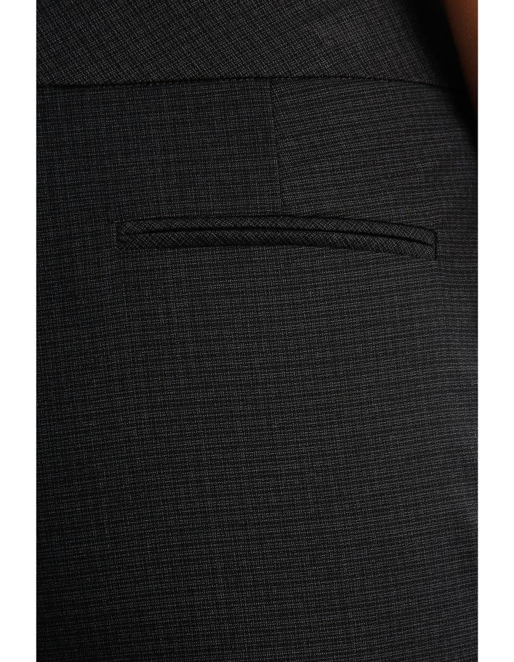 Charcoal Cross Hatch Straight Leg Suit Pant image 4
