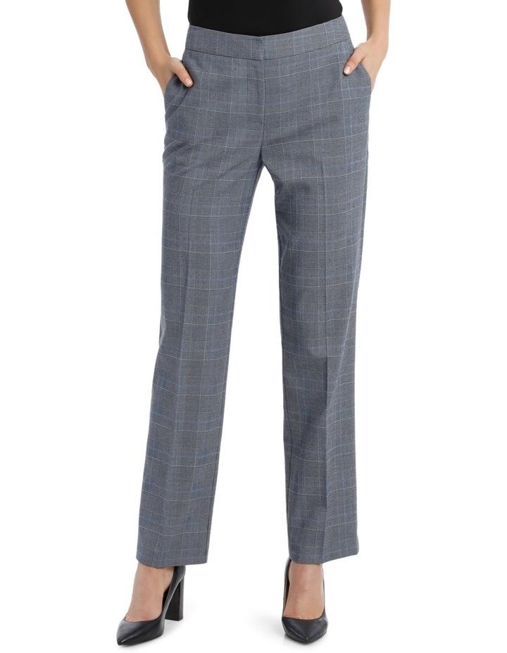 Light Blue Straight Leg Suit Pant image 1