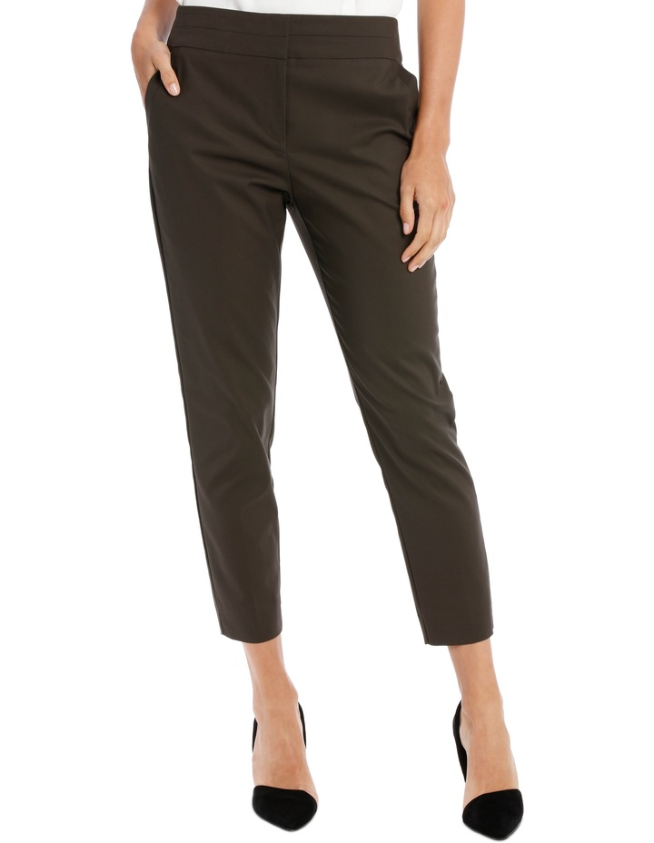 Cotton Sateen Ankle Grazer Pant image 2