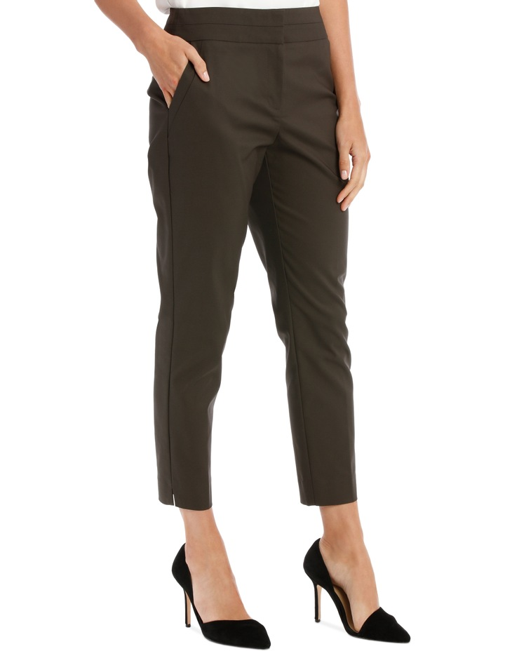 Cotton Sateen Ankle Grazer Pant image 4