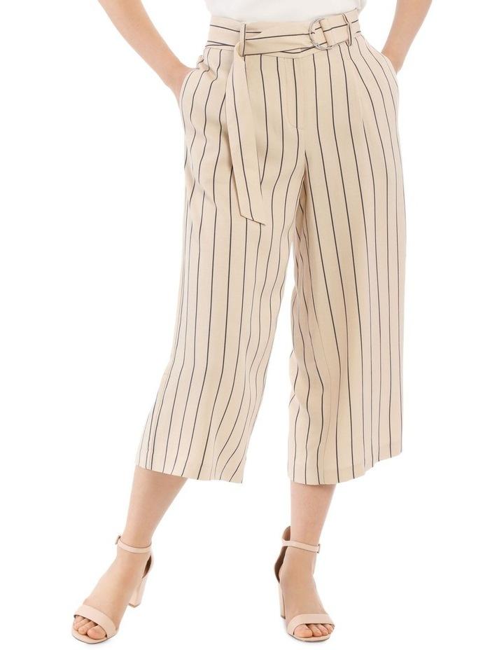 Stripe Linen Blend Culotte image 1
