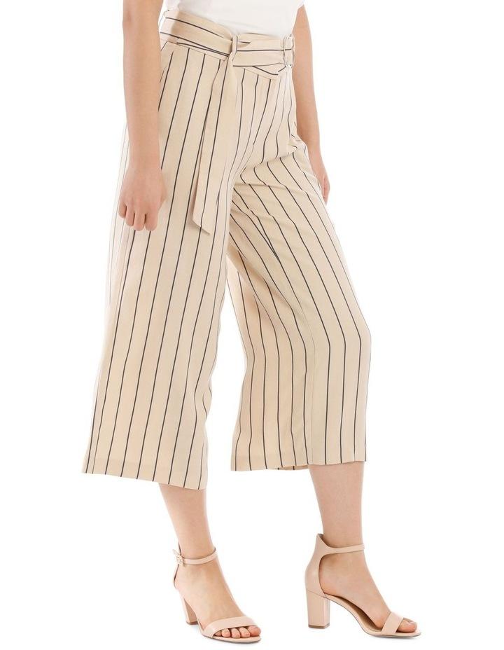 Stripe Linen Blend Culotte image 2