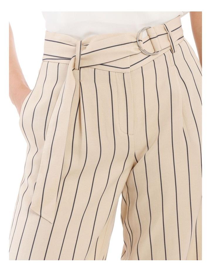 Stripe Linen Blend Culotte image 4