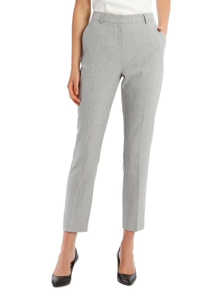 Grey Textured Suit Pant image 1