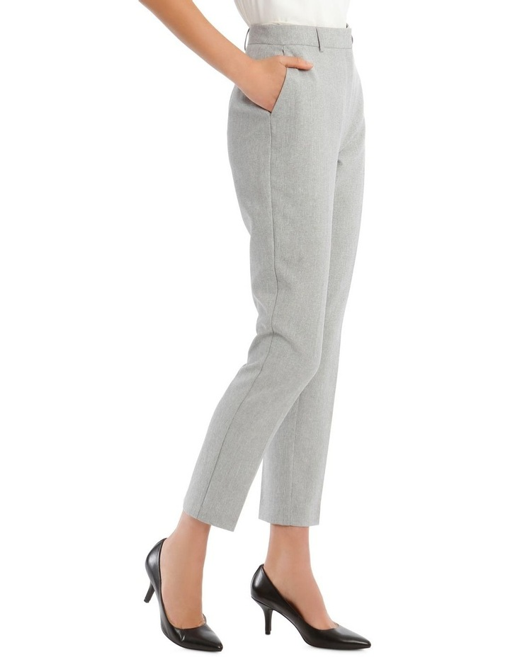Grey Textured Suit Pant image 2