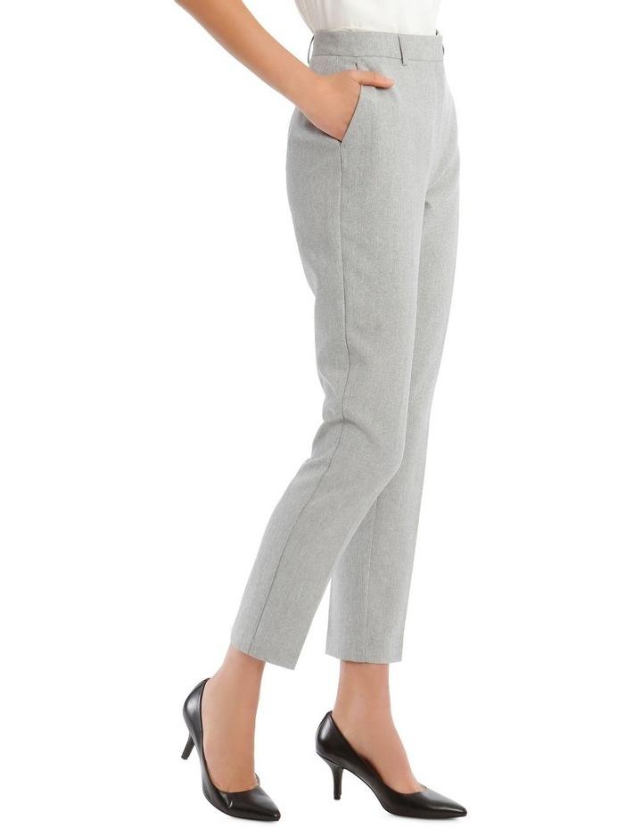 Grey Textured Suit Pant image 2