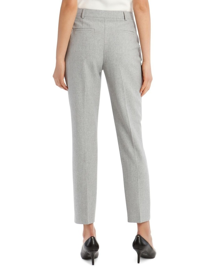Grey Textured Suit Pant image 3