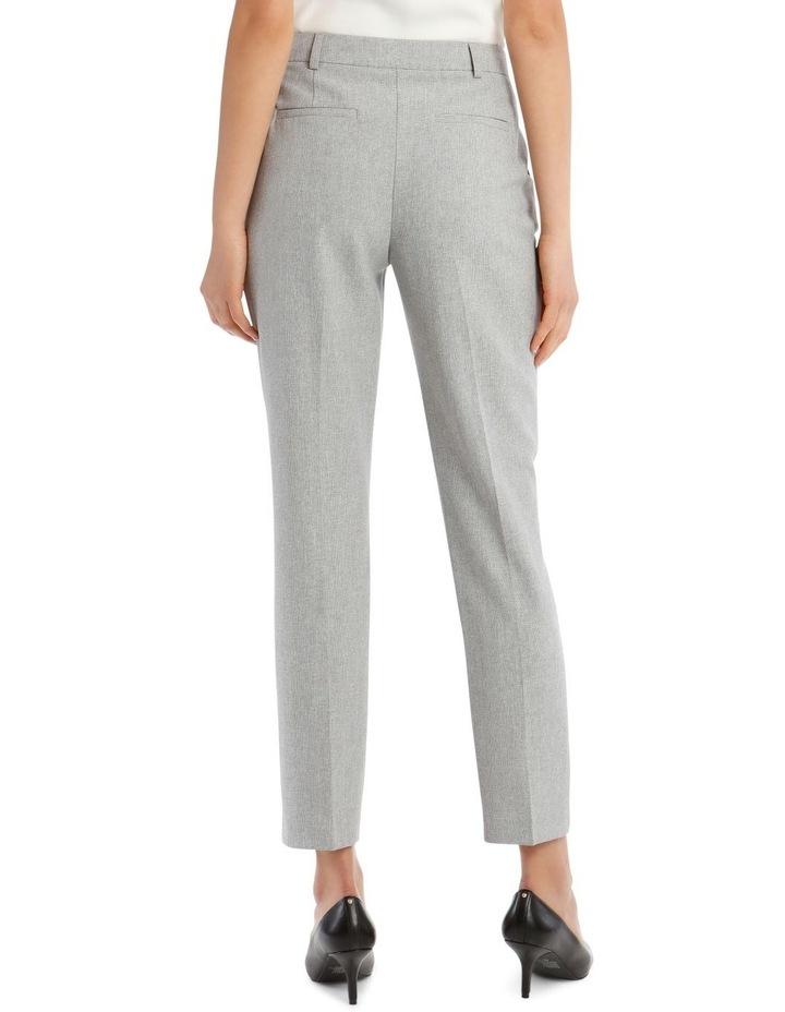 Grey Textured Suit Pant image 3