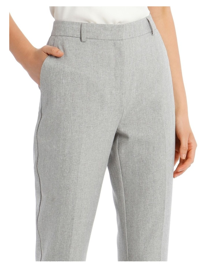 Grey Textured Suit Pant image 4