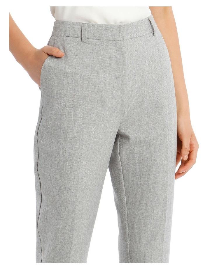 Grey Textured Suit Pant image 4