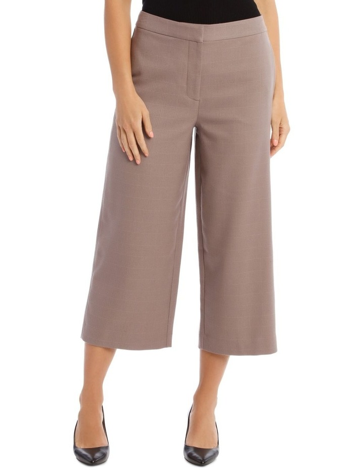 Check Wide Leg Cropped Pant image 1