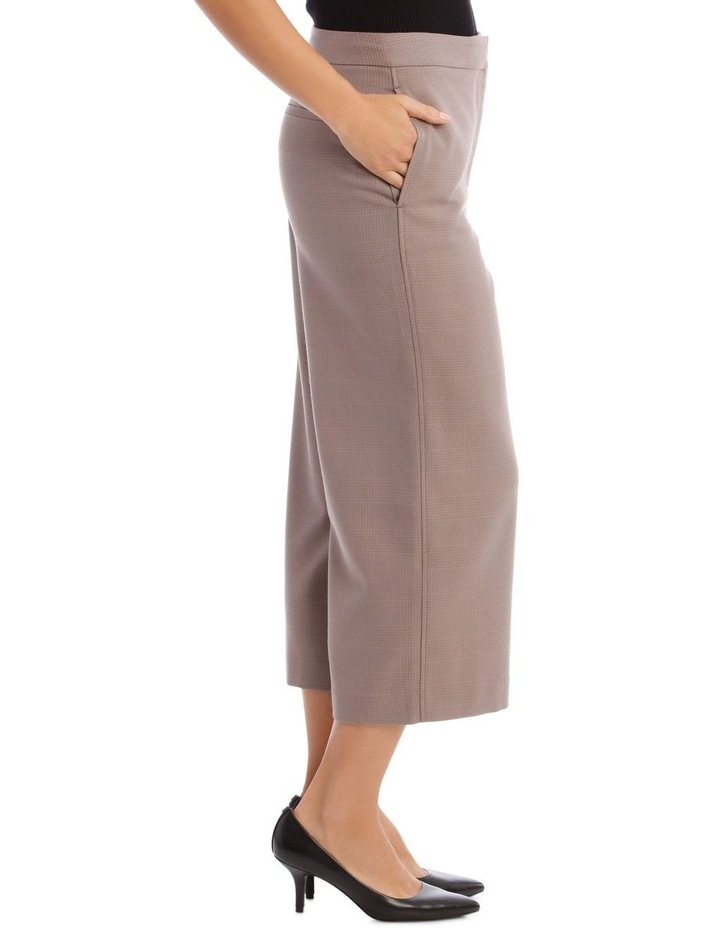 Check Wide Leg Cropped Pant image 2