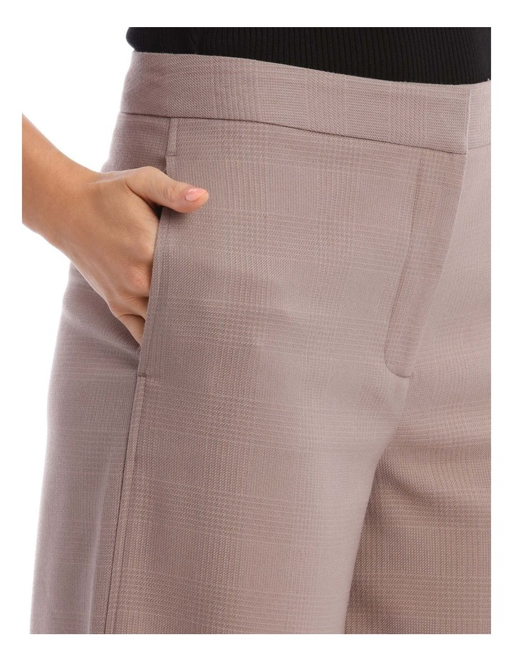 Check Wide Leg Cropped Pant image 4