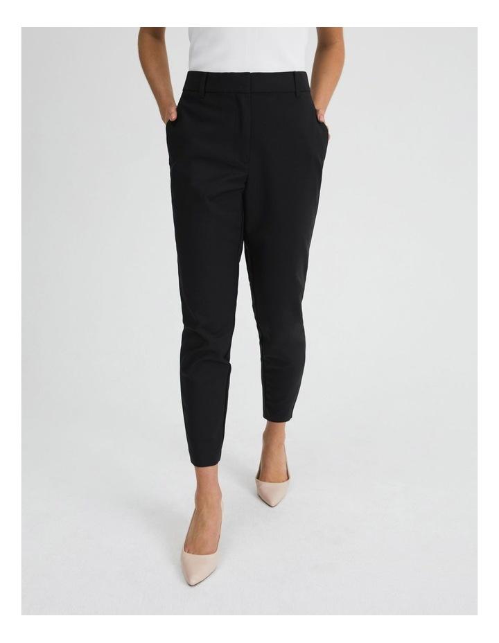 Black Cotton Sateen Pants image 1