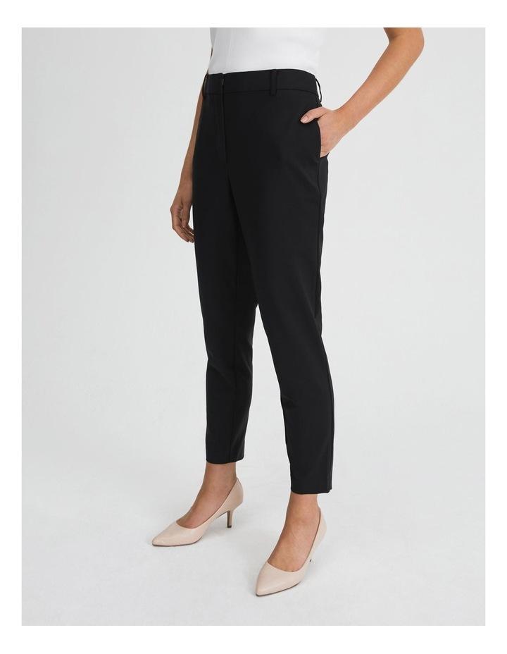 Black Cotton Sateen Pants image 2