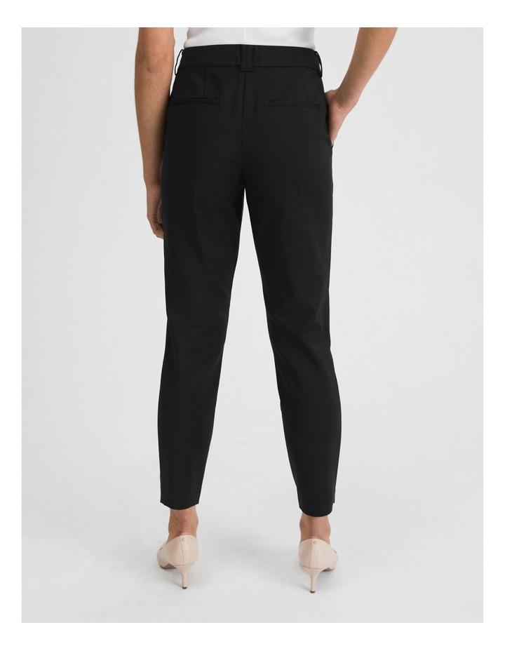 Black Cotton Sateen Pants image 3