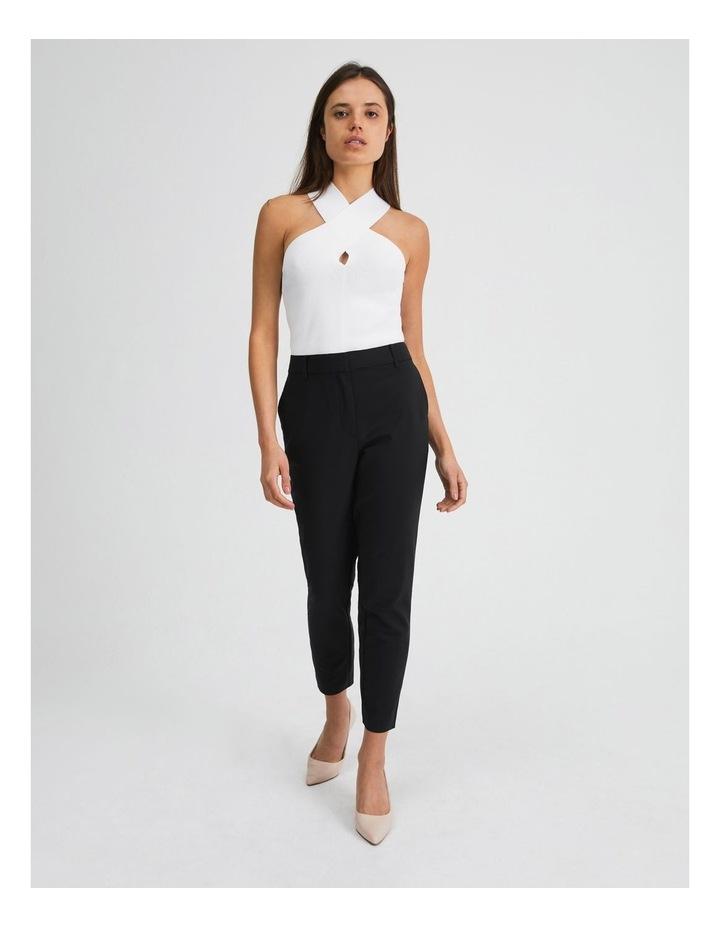 Black Cotton Sateen Pants image 4