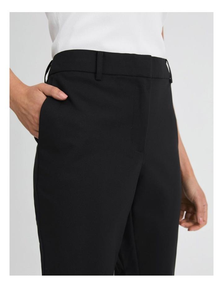 Black Cotton Sateen Pants image 5