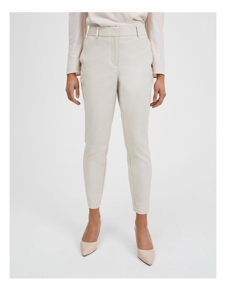 Cotton Sateen Pants Beige image 1