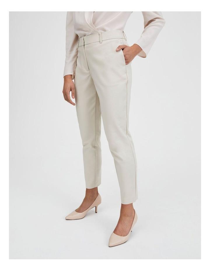 Cotton Sateen Pants Beige image 3