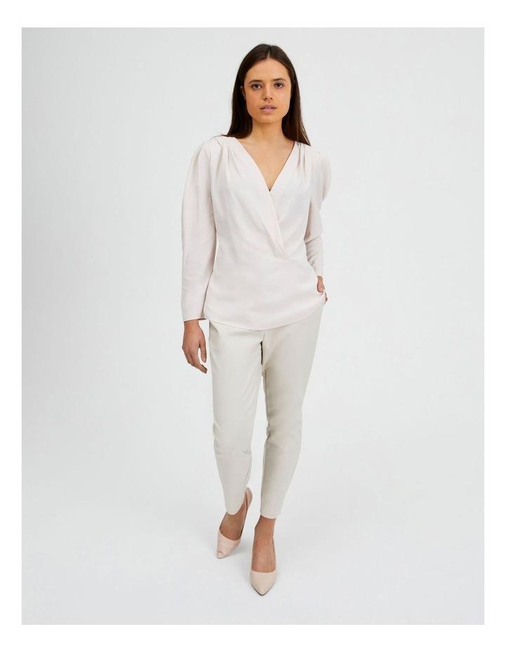 Cotton Sateen Pants Beige image 5