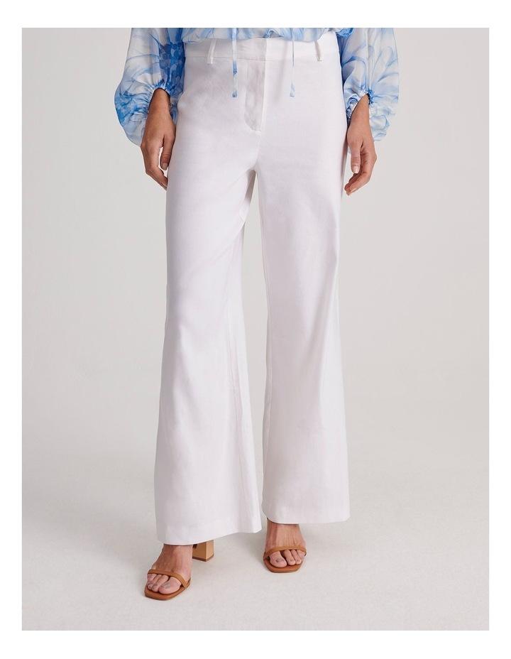 Linen Blend Wide Leg Pant image 1