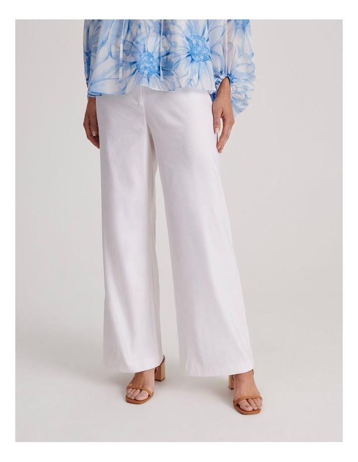Linen Blend Wide Leg Pant image 2