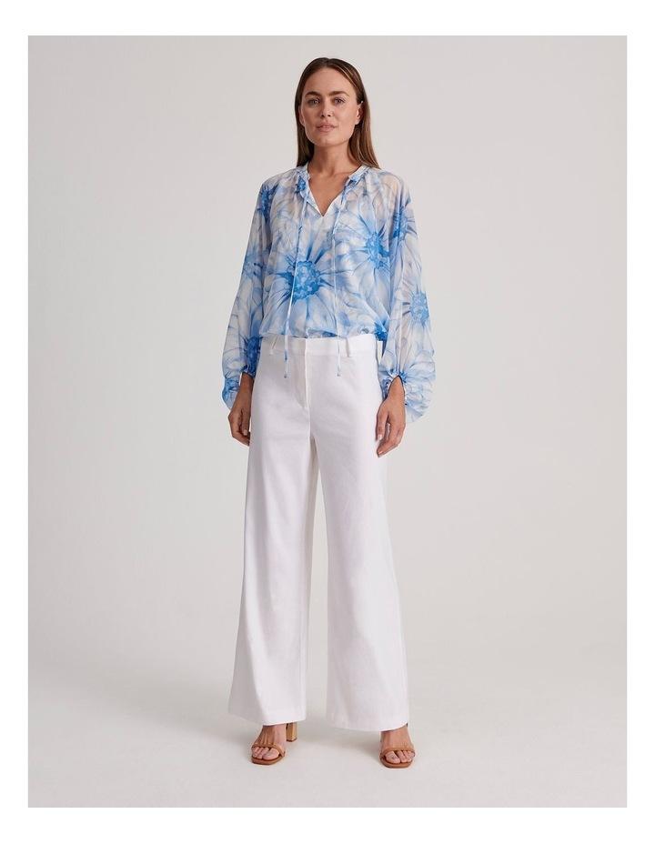Linen Blend Wide Leg Pant image 3
