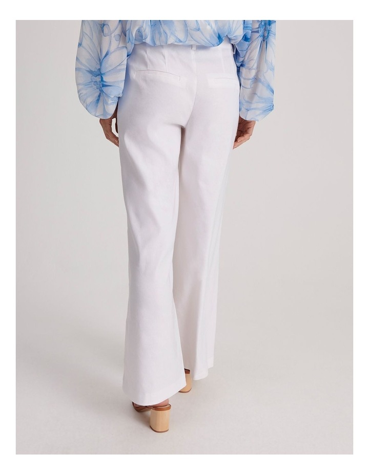 Linen Blend Wide Leg Pant image 5