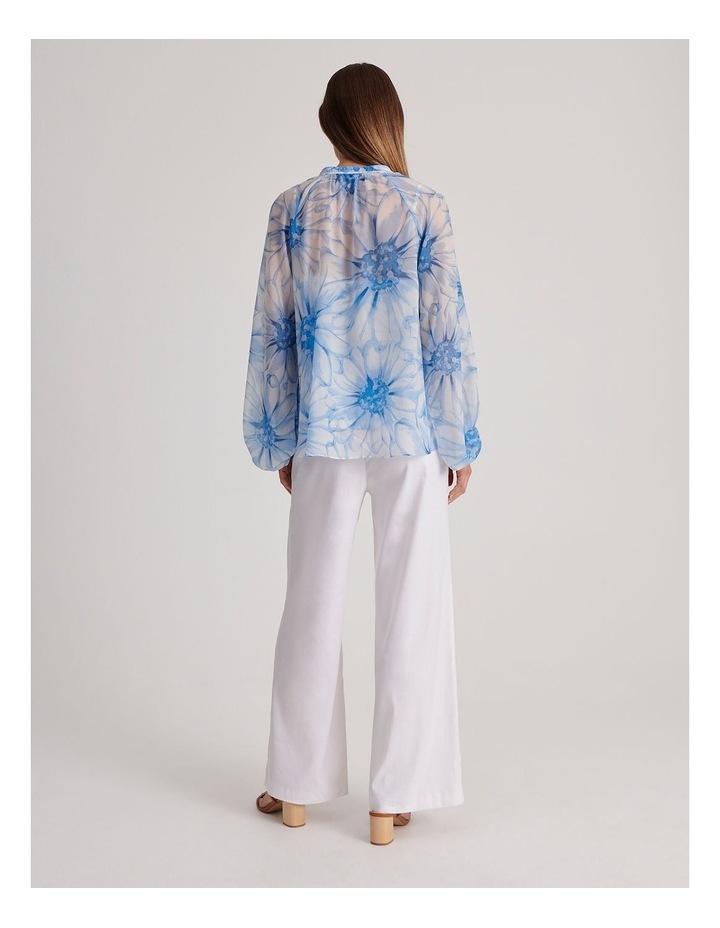 Linen Blend Wide Leg Pant image 6