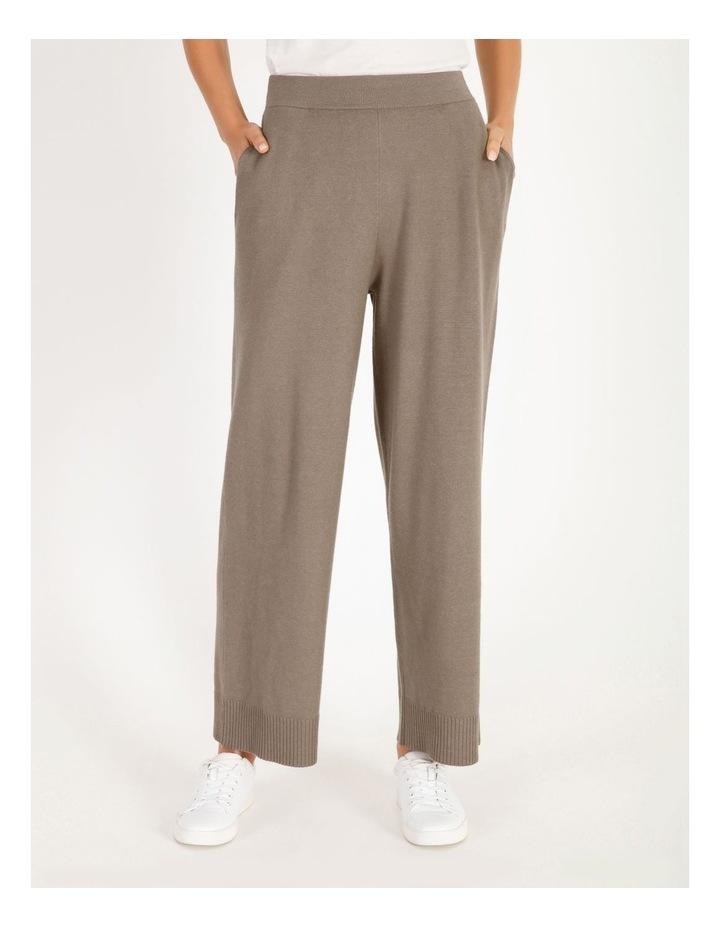 Wide-Leg Knit Pant image 1