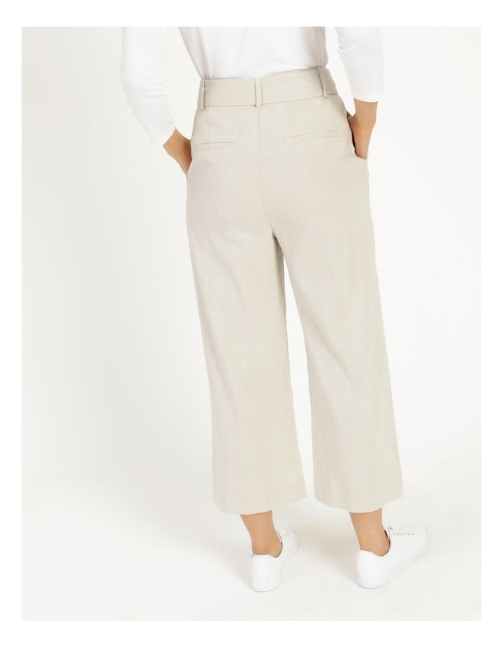 Self Tie Natural Linen Wide Leg Pants image 4