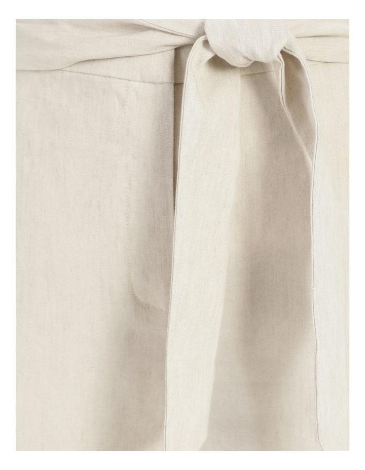 Self Tie Natural Linen Wide Leg Pants image 6