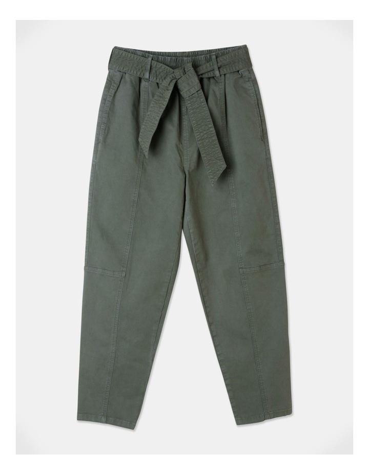 Barrel Leg Belted Pant image 1