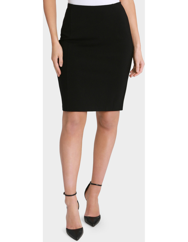 Panelled Ponte Pencil Skirt image 1