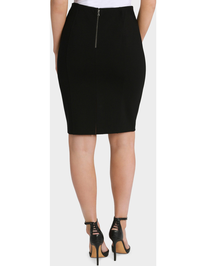 Panelled Ponte Pencil Skirt image 3