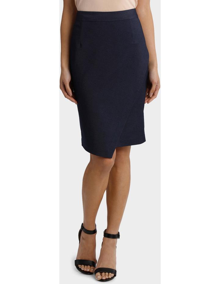Indigo Asymetrical Suit Skirt image 1
