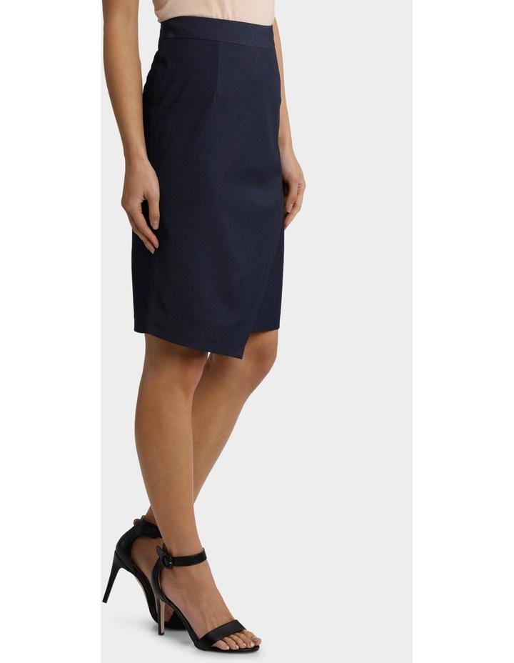 Indigo Asymetrical Suit Skirt image 2