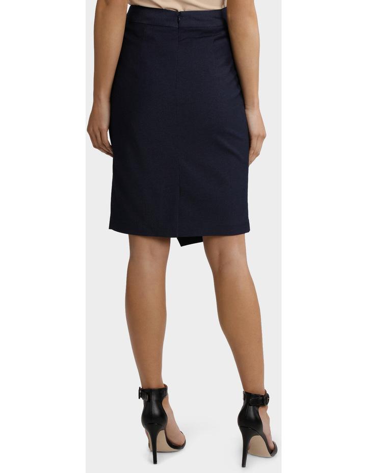 Indigo Asymetrical Suit Skirt image 3