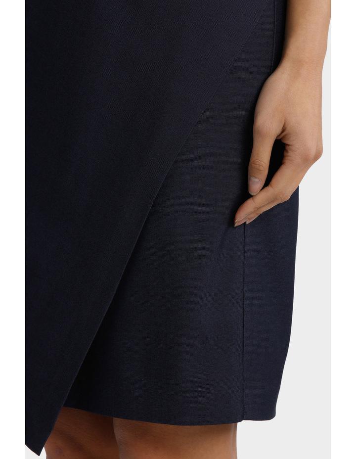 Indigo Asymetrical Suit Skirt image 4