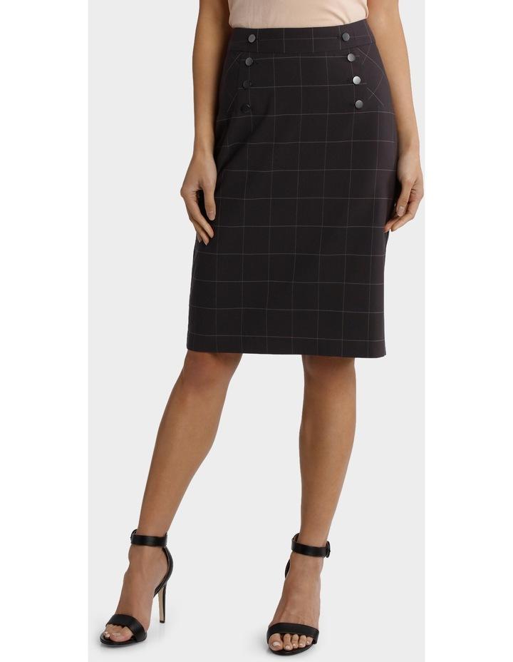 Window Pane Check Suiting Skirt image 1