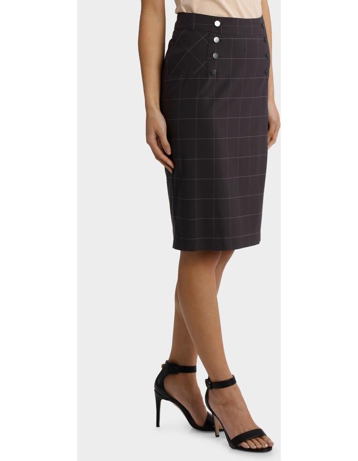 Window Pane Check Suiting Skirt image 2