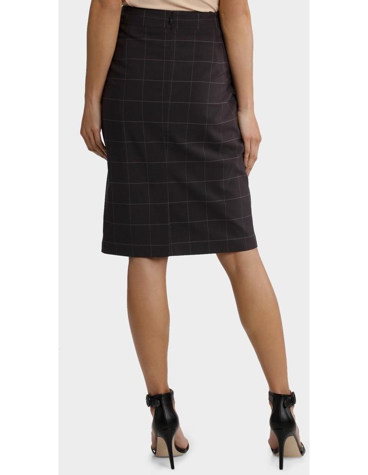 Window Pane Check Suiting Skirt image 3