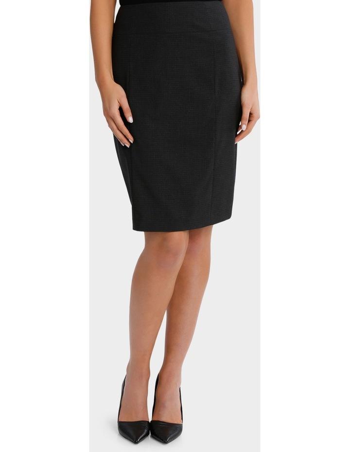 Charcoal Cross Hatch Suit Skirt image 1