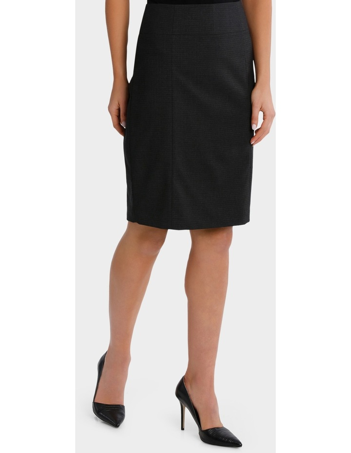 Charcoal Cross Hatch Suit Skirt image 2