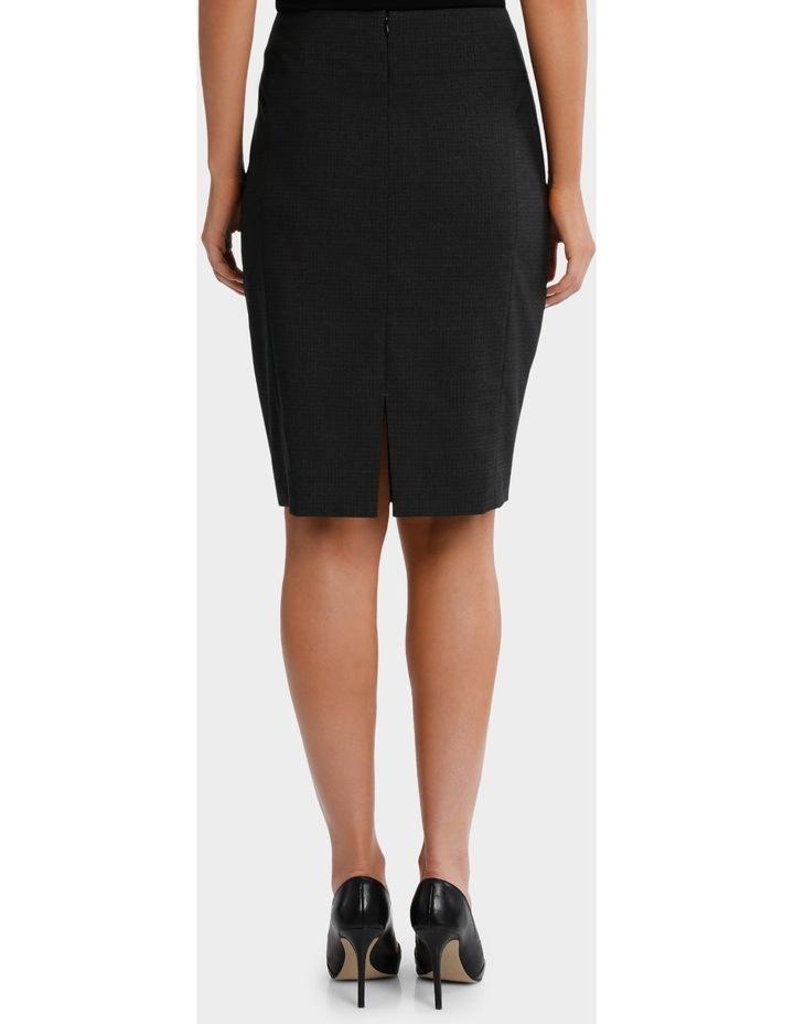 Charcoal Cross Hatch Suit Skirt image 3