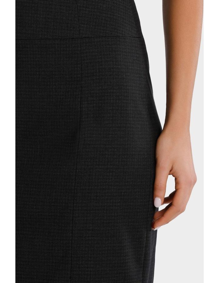 Charcoal Cross Hatch Suit Skirt image 4