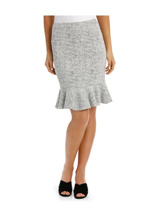 Basque - Jacquard Ponte Flip Hem Skirt